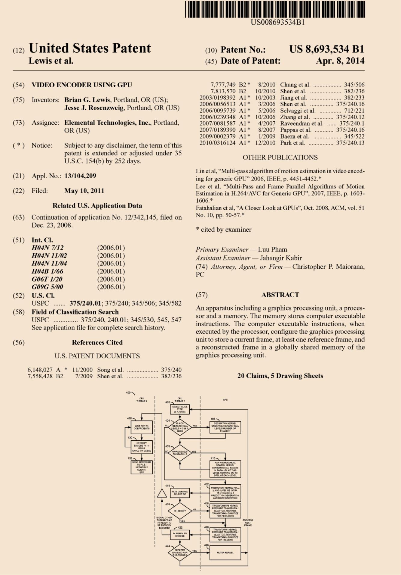 png Рисунок 1 2 Титульная страница описания изобретения к патенту США